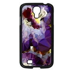 Purple Abstract Geometric Dream Samsung Galaxy S4 I9500/ I9505 Case (black) by DanaeStudio