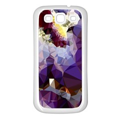 Purple Abstract Geometric Dream Samsung Galaxy S3 Back Case (white) by DanaeStudio
