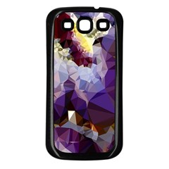 Purple Abstract Geometric Dream Samsung Galaxy S3 Back Case (black) by DanaeStudio