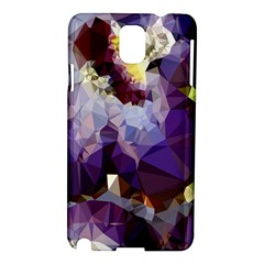 Purple Abstract Geometric Dream Samsung Galaxy Note 3 N9005 Hardshell Case by DanaeStudio