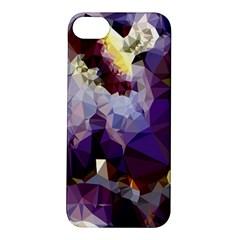 Purple Abstract Geometric Dream Apple Iphone 5s/ Se Hardshell Case by DanaeStudio