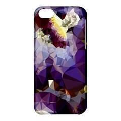 Purple Abstract Geometric Dream Apple Iphone 5c Hardshell Case by DanaeStudio