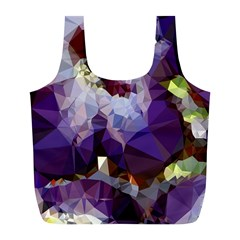 Purple Abstract Geometric Dream Full Print Recycle Bags (l)  by DanaeStudio