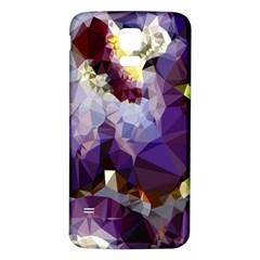 Purple Abstract Geometric Dream Samsung Galaxy S5 Back Case (white) by DanaeStudio