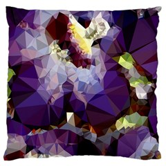 Purple Abstract Geometric Dream Large Flano Cushion Case (two Sides) by DanaeStudio