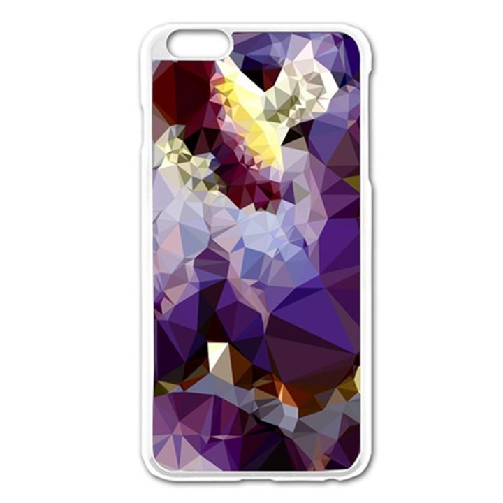 Purple Abstract Geometric Dream Apple iPhone 6 Plus/6S Plus Enamel White Case
