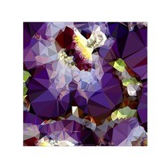 Purple Abstract Geometric Dream Small Satin Scarf (square) by DanaeStudio