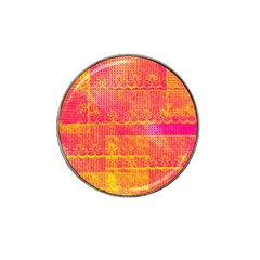 Yello And Magenta Lace Texture Hat Clip Ball Marker (4 Pack) by DanaeStudio