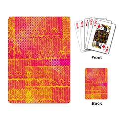 Yello And Magenta Lace Texture Playing Card by DanaeStudio