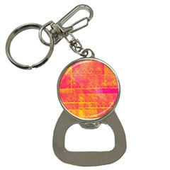 Yello And Magenta Lace Texture Bottle Opener Key Chains by DanaeStudio