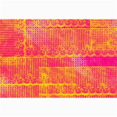 Yello And Magenta Lace Texture Collage Prints