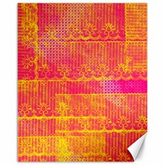 Yello And Magenta Lace Texture Canvas 16  X 20   by DanaeStudio