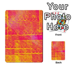 Yello And Magenta Lace Texture Multi Purpose Cards (rectangle)  by DanaeStudio