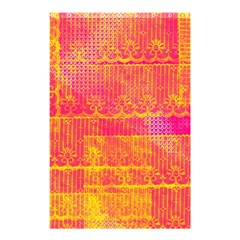 Yello And Magenta Lace Texture Shower Curtain 48  X 72  (small)  by DanaeStudio