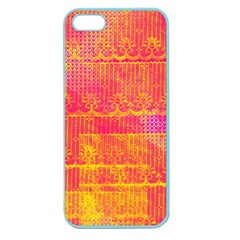 Yello And Magenta Lace Texture Apple Seamless Iphone 5 Case (color) by DanaeStudio