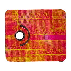 Yello And Magenta Lace Texture Samsung Galaxy S  Iii Flip 360 Case by DanaeStudio