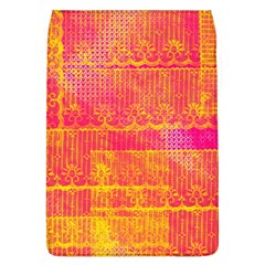 Yello And Magenta Lace Texture Flap Covers (l)  by DanaeStudio