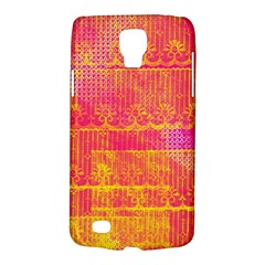 Yello And Magenta Lace Texture Galaxy S4 Active by DanaeStudio