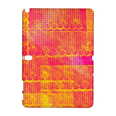 Yello And Magenta Lace Texture Samsung Galaxy Note 10 1 (p600) Hardshell Case by DanaeStudio
