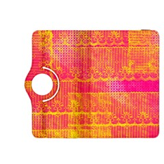 Yello And Magenta Lace Texture Kindle Fire Hdx 8 9  Flip 360 Case by DanaeStudio
