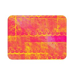 Yello And Magenta Lace Texture Double Sided Flano Blanket (mini)  by DanaeStudio