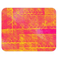 Yello And Magenta Lace Texture Double Sided Flano Blanket (medium)  by DanaeStudio