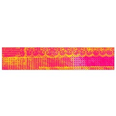 Yello And Magenta Lace Texture Flano Scarf (small) by DanaeStudio