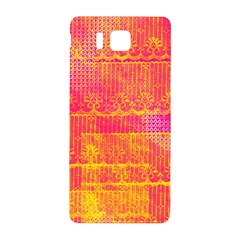 Yello And Magenta Lace Texture Samsung Galaxy Alpha Hardshell Back Case by DanaeStudio