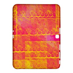 Yello And Magenta Lace Texture Samsung Galaxy Tab 4 (10 1 ) Hardshell Case  by DanaeStudio