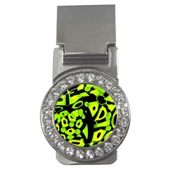 Green Neon Abstraction Money Clips (cz)  by Valentinaart