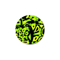Green Neon Abstraction Golf Ball Marker (4 Pack) by Valentinaart