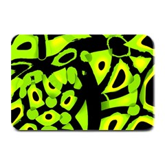 Green Neon Abstraction Plate Mats by Valentinaart