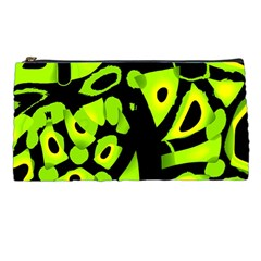 Green Neon Abstraction Pencil Cases by Valentinaart