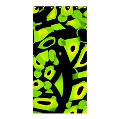 Green Neon Abstraction Shower Curtain 36  X 72  (stall)  by Valentinaart