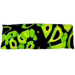 Green neon abstraction Body Pillow Case (Dakimakura) by Valentinaart
