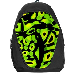 Green Neon Abstraction Backpack Bag by Valentinaart