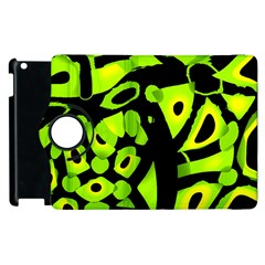 Green Neon Abstraction Apple Ipad 3/4 Flip 360 Case by Valentinaart