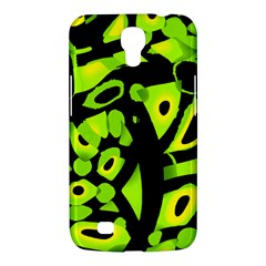 Green Neon Abstraction Samsung Galaxy Mega 6 3  I9200 Hardshell Case by Valentinaart