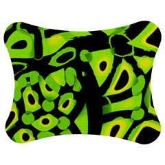 Green Neon Abstraction Jigsaw Puzzle Photo Stand (bow) by Valentinaart
