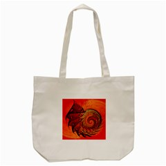 Nautilus Shell Abstract Fractal Tote Bag (cream) by designworld65