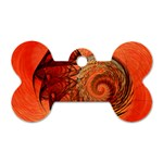Nautilus Shell Abstract Fractal Dog Tag Bone (One Side) Front