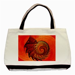 Nautilus Shell Abstract Fractal Basic Tote Bag (two Sides) by designworld65