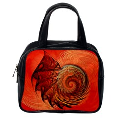 Nautilus Shell Abstract Fractal Classic Handbags (one Side) by designworld65