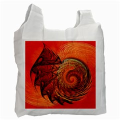 Nautilus Shell Abstract Fractal Recycle Bag (one Side) by designworld65