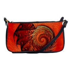 Nautilus Shell Abstract Fractal Shoulder Clutch Bags by designworld65