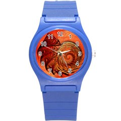 Nautilus Shell Abstract Fractal Round Plastic Sport Watch (s) by designworld65