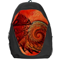 Nautilus Shell Abstract Fractal Backpack Bag by designworld65