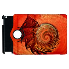 Nautilus Shell Abstract Fractal Apple Ipad 3/4 Flip 360 Case by designworld65