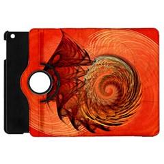 Nautilus Shell Abstract Fractal Apple Ipad Mini Flip 360 Case by designworld65