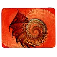 Nautilus Shell Abstract Fractal Samsung Galaxy Tab 7  P1000 Flip Case by designworld65